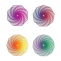 Gradient line ornaments vector