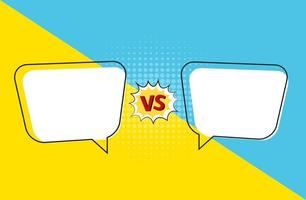Versus letters figh background in pop art style. Vector Illustration
