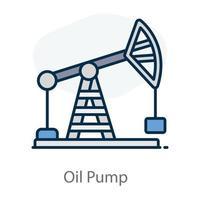 perforación de la bomba de aceite vector