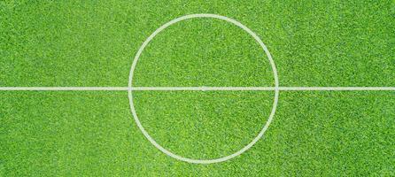Foto de la vista superior del fondo de textura de campo de fútbol