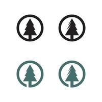 merry Christmas icon pine Trees vector illustration and logo design