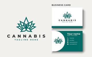 Cannabis leaf logo design. Vector illustration