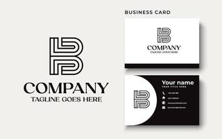 Initial letter B uppercase modern logo design template elements. modern line letter Isolated on white background. can be used for business, consulting group company. vector