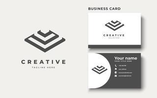 Abstract monogram logo design vector