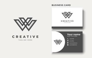 Initial letter W uppercase modern logo design template elements. modern line letter Isolated on white background. vector