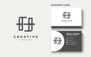 Initial letter H uppercase modern logo design template elements. modern line letter Isolated on white background. vector