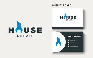 Home Repair Logo Template Isolated in White Background vector