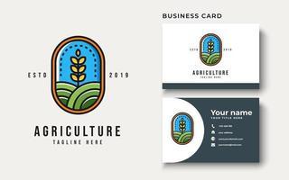 Agriculture Logo Design Inspiration, Vector illustration