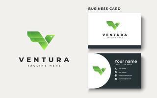 Bird with Initial V Logo Design Inspiration, Vector illustration