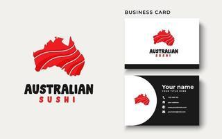 Australian Sushi Logo Design Inspiration, Vector illustration