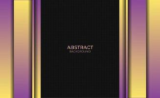 Abstract Style Gradient Purple Yellow Background Design vector
