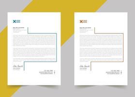 Sample letterhead template design for your business vector