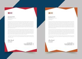 Professional creative letterhead template design for your business vector