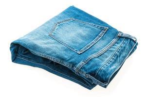 Jeans on white photo