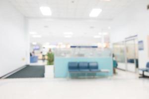 desenfoque de fondo del hospital foto