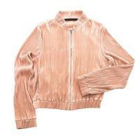 chaqueta rosa sobre blanco foto