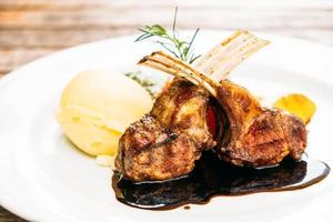 Grilled lamb chop photo