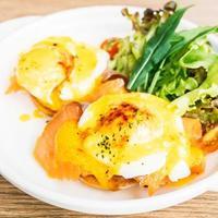 Eggs benedict with smoked salmon photo
