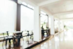 Interior del vestíbulo del hotel borroso abstracto foto
