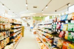 Desenfoque abstracto y tiendas de supermercados y compras desenfocadas foto