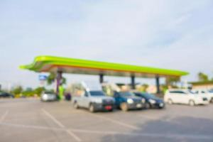 Abstract blur and defocused gas station photo