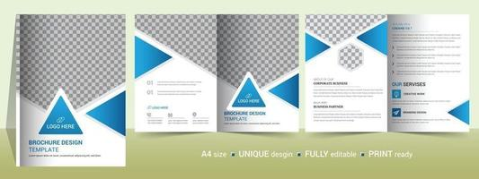 Corporate Bi-fold brochure template, catalog, booklet template and fully editable. vector