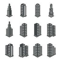 construcción de iconos de perspectiva 3d. ilustración vectorial vector