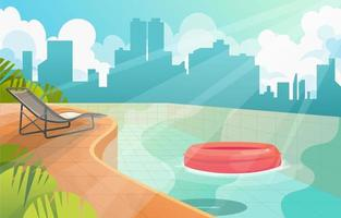 Swimming Pool With Building View vector