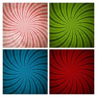 Abstract Hypnotic Background Collection Set. Vector Illustration