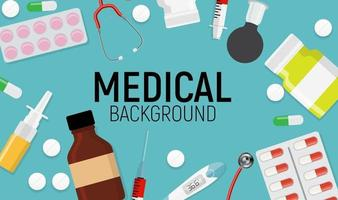 Health Medical  Background with Place for Text. Vector Illustration