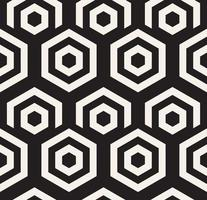 Black and white hypnotic background. Abstract Seamless Pattern. Vector illustration