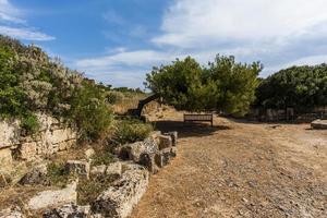 Paisaje en Selinunte en Sicilia, Italia foto