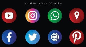 social media logos and icon vector