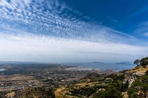 Cloudscape over Erice, Sicily, Italy photo
