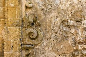 Baroque wall in Erice, Trapani, Sicily, Italy photo
