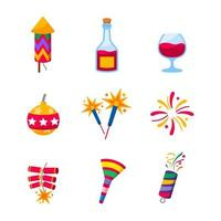 Party Props Celebration Icons vector