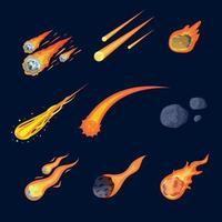 Meteor Variation Icon Set vector