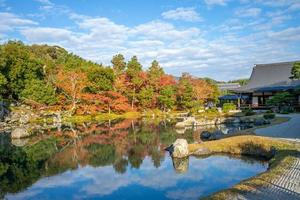 Sogenchi Teien in Tenryuji Temple, Arashiyama, Kyoto, Japan photo