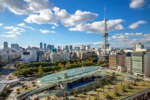 vista aérea, de, nagoya, con, nagoya, tower, en, japón foto