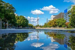 vista de la calle, de, nagoya, en, japón foto
