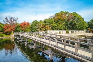 El jardín shirotori es un jardín japonés en Nagoya en Japón foto