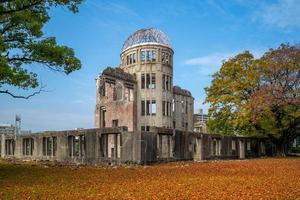 cúpula de genbaku del memorial de la paz de hiroshima en japón foto