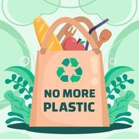 Say No to Plastic vector