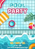 Summer Pool Party Poster vector