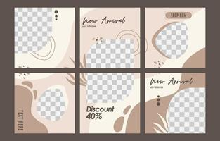 Social Media Template Card Collections vector
