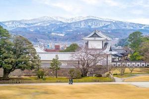 View of Kanazawa castle with Mountain Utatsu photo