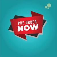 pre order badge icon vector ilustration . eps 10