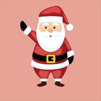 christmas character design vector with santa