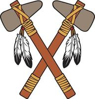 Crossed Tomahawks Color vector