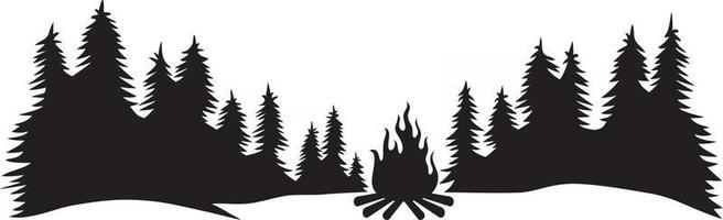 Camping In The Forest vector